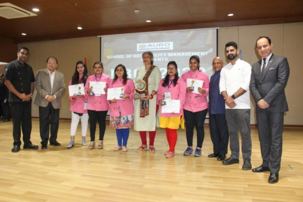 Students Participating at AURO University for National Budding Chef Competition