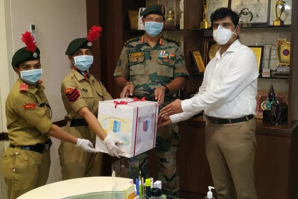 Mask Distribution by NCC Cadets